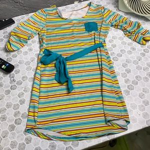 SoyBu Girls XL Striped 3/4 Sleeve Dress